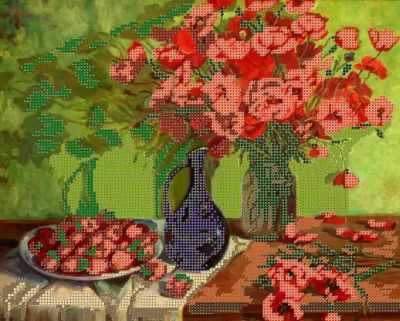 Основа для вышивания с нанесённым рисунком Простор Краски лета - схема для вышивания (Простор)