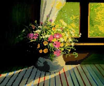 Основа для вышивания с нанесённым рисунком Простор Полевые цветы - схема для вышивания (Простор)