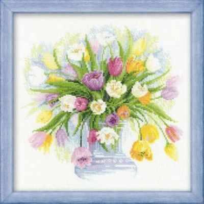 Набор для вышивания Риолис (Сотвори Сама) 100/008 «Акварельные тюльпаны»