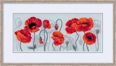 Набор для вышивания Риолис (Сотвори Сама) 100/037 Алые маки риолис набор для вышивания 1775 розовые маки