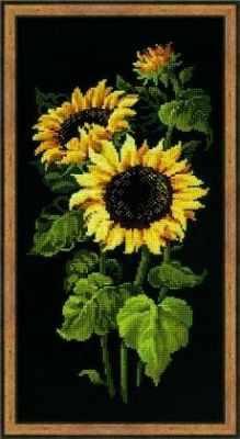 Фото - Набор для вышивания Риолис (Сотвори Сама) 1056 «Подсолнухи» набор для вышивания риолис сотвори сама 1600 подушка панно венское кружево
