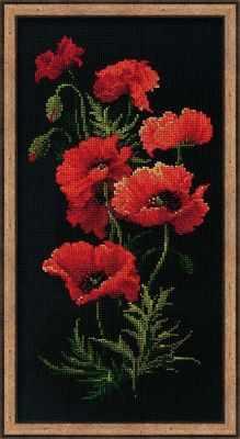Набор для вышивания Риолис (Сотвори Сама) 1057 «Маки» риолис набор для вышивания 1775 розовые маки