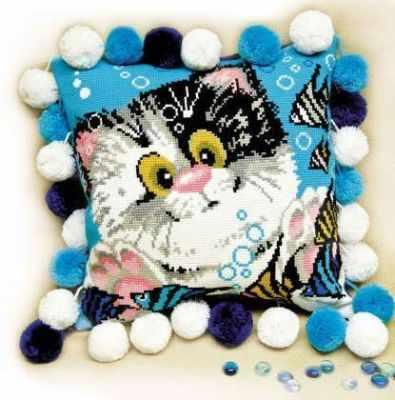 Набор для вышивания Риолис (Сотвори Сама) 1100 Подушка «Котёнок»