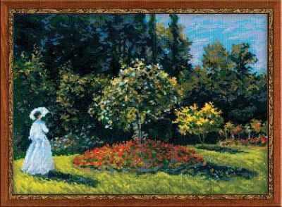 """1225 """"Дама в саду"""" по мотивам картины К.Моне"""