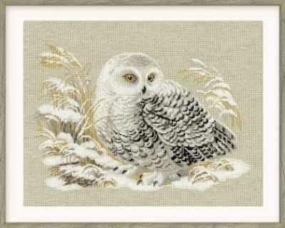 Фото - Набор для вышивания Риолис (Сотвори Сама) 1241 Белая сова сова и крест