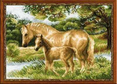 """1258 """"Лошадь с жеребёнком"""""""