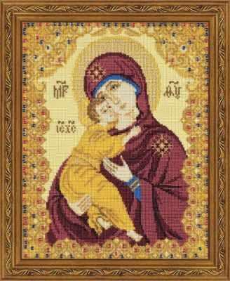 Фото - Набор для вышивания Риолис (Сотвори Сама) 1300 Богоматерь Владимирская изображение янтарь богоматерь владимирская 13х16 см