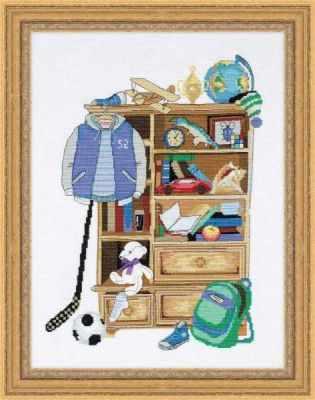1372  Шкафчик для мальчика  - Наборы для вышивания «Риолис»