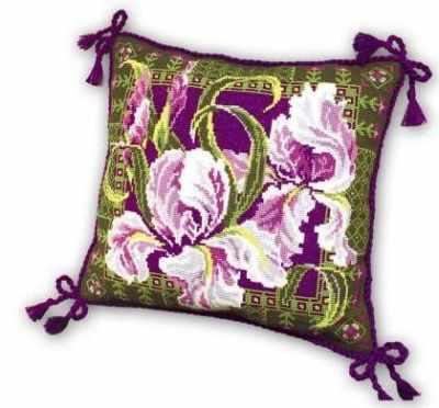 Фото - Набор для вышивания Риолис (Сотвори Сама) 657 Подушка Ирисы набор для вышивания риолис сотвори сама 1600 подушка панно венское кружево