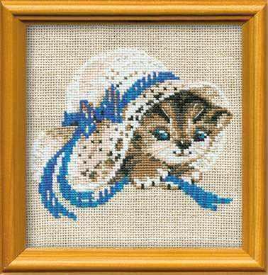 Фото - Набор для вышивания Риолис (Сотвори Сама) 748 «Котенок в шляпе» тарелка сотвори чудо линия 20 см белый