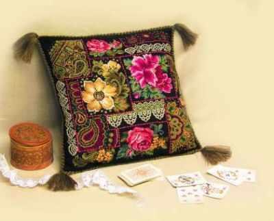 Фото - Набор для вышивания Риолис (Сотвори Сама) 761 Подушка Цветочная композиция набор для вышивания риолис сотвори сама 1600 подушка панно венское кружево