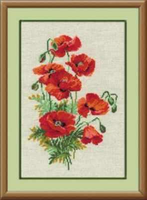 Набор для вышивания Риолис (Сотвори Сама) 808 «Полевые маки» риолис набор для вышивания 1775 розовые маки