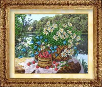 806  Ромашки и малина (РИ) - Наборы для вышивания «Русская искусница»
