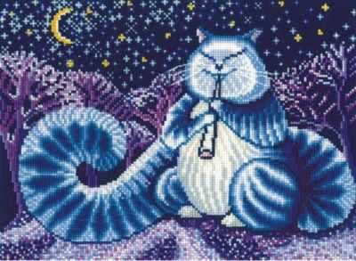 Набор для вышивания Сделай своими руками Л-07 Лунный кот