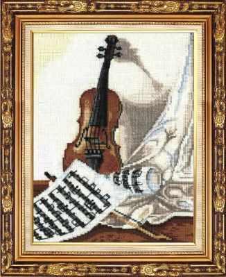 Набор для вышивания Сделай своими руками М-22 Мелодия для скрипки