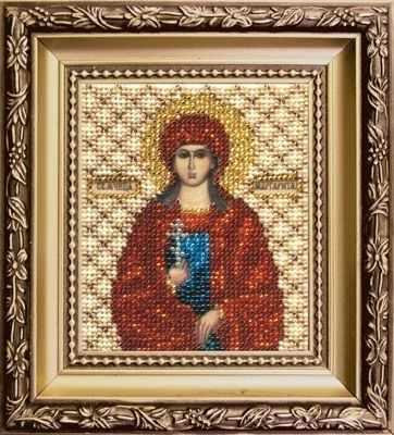 Б-1129  Икона Святой мученицы Маргариты   чм - Наборы для вышивания икон «Чарiвна Мить»