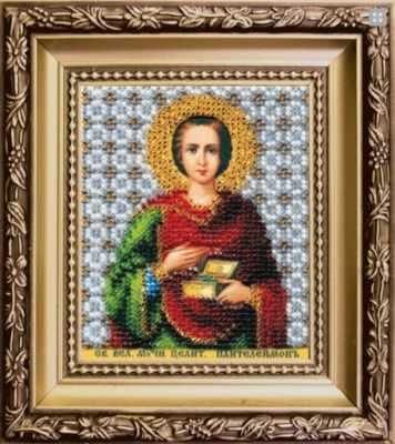Б-1169  Икона Св.Велимученика и целителя Пантелеймона  чм - Наборы для вышивания икон «Чарiвна Мить»