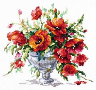 40-60 Красные маки - Наборы для вышивания «Чудесная игла»
