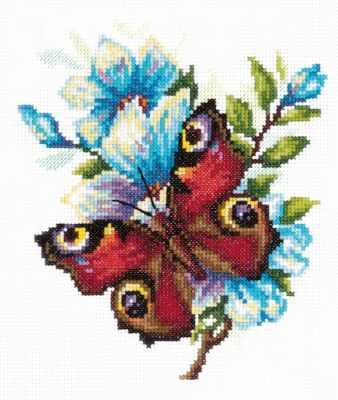 цена на Набор для вышивания Чудесная игла 42-09 Павлиний глаз
