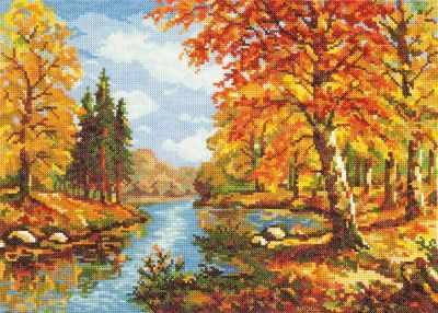 Фото - Набор для вышивания Чудесная игла 45-02 Золотая осень чудесная планета земля
