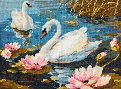 64-01 Лебединая пара - Наборы для вышивания «Чудесная игла»