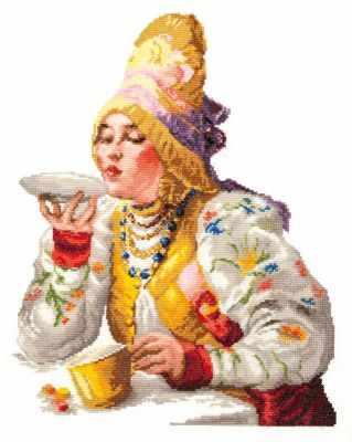 66-01 Боярышня за чаем - Наборы для вышивания «Чудесная игла»