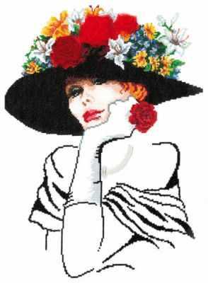 Набор для вышивания Чудесная игла 83-02 Леди Шарм бусы из имитации малахита леди