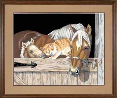 91186 DMS  Приятели   раскраска - Картины по номерам «Dimensions»