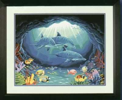 91302 DMS  Подводный рай   раскраска - Картины по номерам «Dimensions»