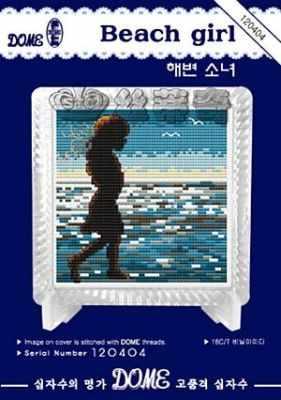 120404  Beach girl  (DOME) - Наборы для вышивания крестом «DOME»