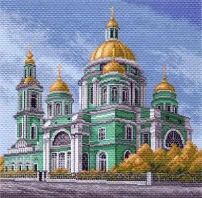 Основа для вышивания с нанесённым рисунком Матрёнин Посад 1549 Елоховский собор в Москве рисунок (МП)