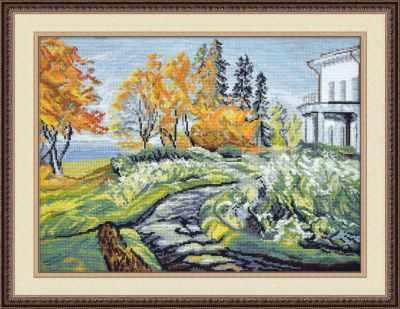 Набор для вышивания Овен 656 Осень в усадьбе