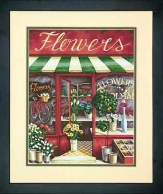 91442 DMS  Цветочный магазин   раскраска - Картины по номерам «Dimensions»