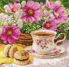 5-12 Утренний чай - Наборы для вышивания «Алиса»