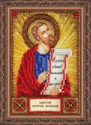 Набор для вышивания иконы Абрис Арт ААМ-112 Набор для вышивания бисером икона Св. Моисей