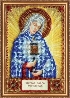 Набор для вышивания иконы Абрис Арт ААМ-118 Набор для вышивания бисером икона Св. Клара набор для вышивания бисером созвездие япония 20 х 27 см