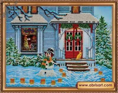 Фото - Набор для вышивания Абрис Арт АВ-308 Новогодняя история набор для вышивания абрис арт ав 687 чеширский кот