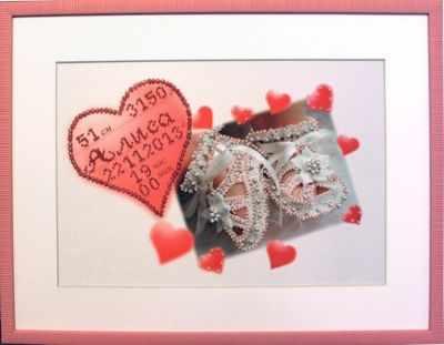 Набор для вышивания иконы Образа в каменьях 5507 Метрика для девочки (с алфавитом)