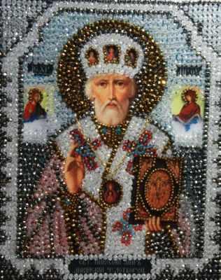 Набор для вышивания иконы Образа в каменьях 7704 Николай Чудотворец