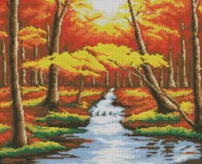 Алмазная мозаика Белоснежка Алмазная вышивка 146-ST Оранжевый лес (Белоснежка)
