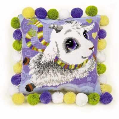 Фото - Набор для вышивания Риолис (Сотвори Сама) 1453 Подушка Козлик набор для вышивания риолис сотвори сама 1600 подушка панно венское кружево
