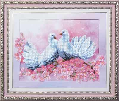 Набор для вышивания Магия канвы Б-171 Любовь и голуби