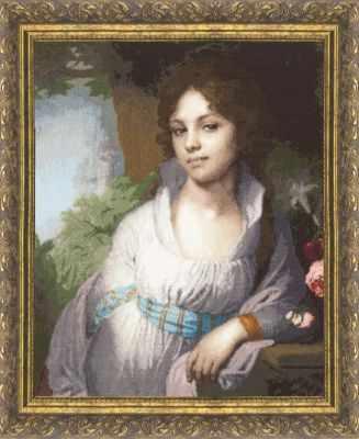 Набор для вышивания Золотое Руно МК-010 Портрет Лопухиной. Музейная коллекция