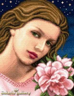 Набор для вышивания Solaria gallery 8112-28 Девушка с азалиями - бумажная схема