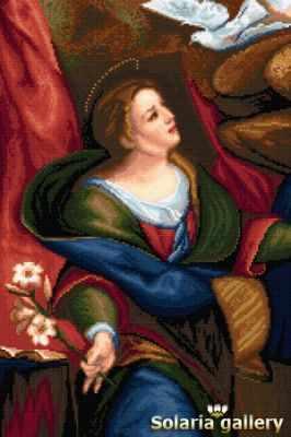 Набор для вышивания Solaria gallery 1112-18 Дева со Св. Духом - бумажная схема