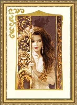 Набор для вышивания Золотое Руно ГТ-040 Жасмин. Графика в тёплых тонах