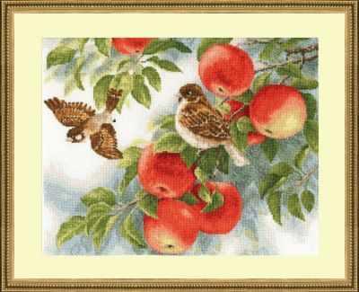 Набор для вышивания Золотое Руно РС-015 Воробушки. Райский сад