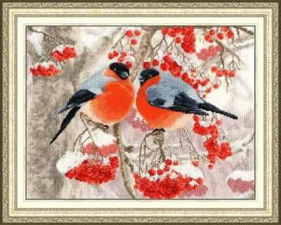 Набор для вышивания Золотое Руно РС-018 Снегири. Райский сад