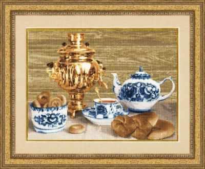 Набор для вышивания Золотое Руно СЖ-027 Русский самовар. Стиль жизни