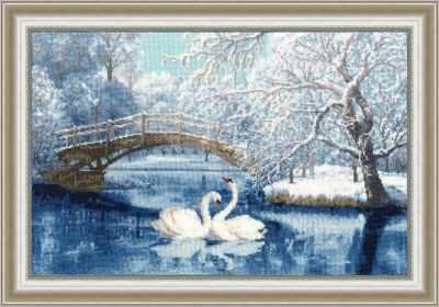 Набор для вышивания Золотое Руно ЛП-036 Белые лебеди. Лирический пейзаж набор для вышивания золотое руно лп 033 лесной страж лирический пейзаж